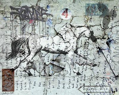 Judy Wood Digital Art - Graffiti Horse 4 by Judy Wood