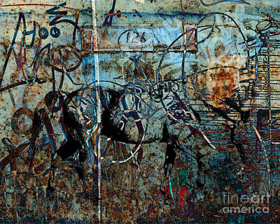 Judy Wood Digital Art - Graffiti Horse Blues by Judy Wood