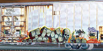 Skull Photograph - Graffiti - Ichabod by Graffiti Girl