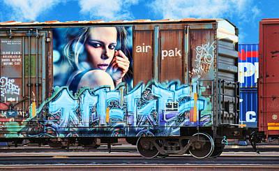 Nude Girl Photograph - Graffiti - I've Got The Blues by Graffiti Girl
