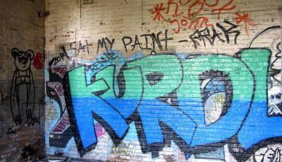 Photograph - Graffiti Kurdl 1 by Anita Burgermeister