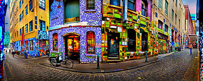 Colorful Photograph - Graffiti Lane   by Az Jackson