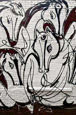 Painting - Graffiti Of Horse  Nyc by Joan Reese