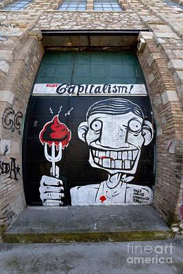 Gate Photograph - Graffiti On A Door by George Atsametakis