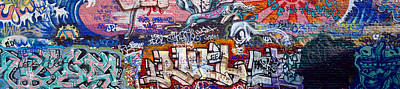 No Paint Photograph - Graffiti On City Wall by Panoramic Images