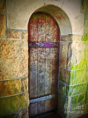 Photograph - Graffiti On The Arched Door by Desiree Paquette
