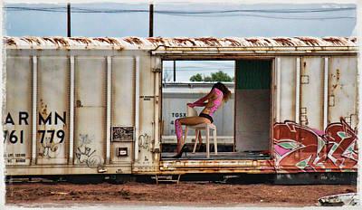 Nude Girl Photograph - Graffiti - Open Door by Graffiti Girl