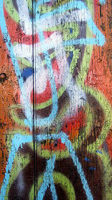 Photograph - Graffiti Orange Close Up by Anita Burgermeister