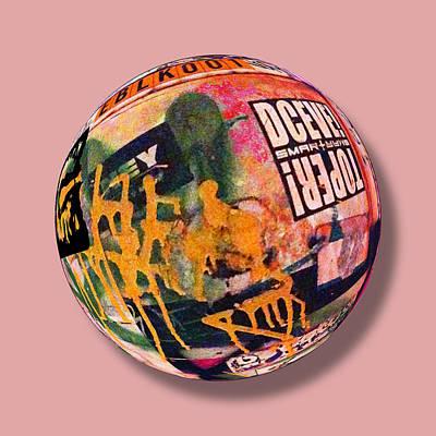 Globe Painting - Graffiti Orb 1 by Tony Rubino