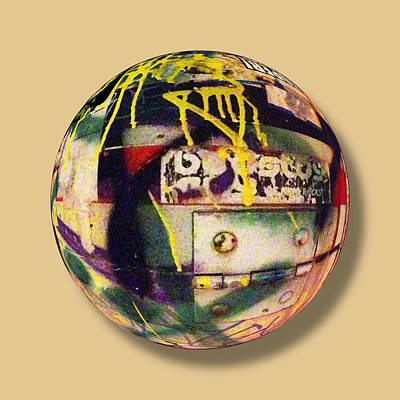 Painting - Graffiti Orb 2 by Tony Rubino