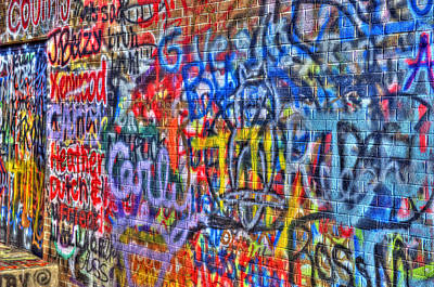 Photograph - Graffiti Paris Mountain State Park  Greenville Sc by Willie Harper