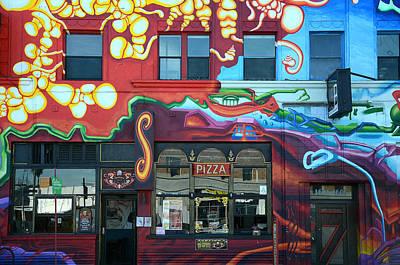 Photograph - Graffiti Pizza Joint by Fraida Gutovich