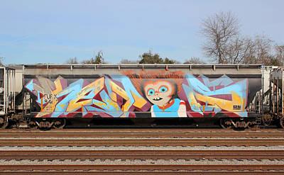 Photograph - Graffiti Rail Car 1 by Joseph C Hinson Photography