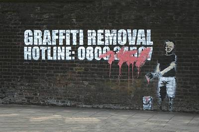 Famous Stencils Photograph - Graffiti Removal Hotline by A Rey
