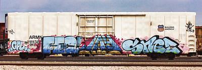 Train Photograph - Graffiti - Shez by Graffiti Girl