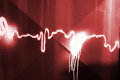 Digital Art - Graffiti Spray Red by Steve Ball