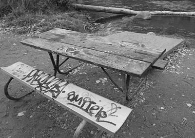 Photograph - Graffiti Table  by Brent Dolliver