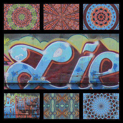 Kaleidoscope Photograph - Graffiti - Triptych IIi by Graffiti Girl