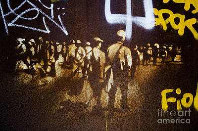 Photograph - Graffiti Walk Together by Victoria Herrera