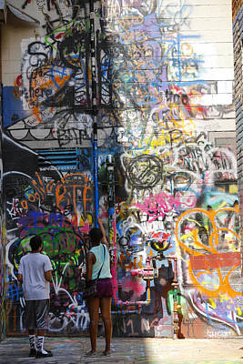 Photograph - Graffiti Wall Watchers by Rexford L Powell