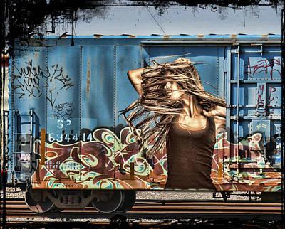 Nude Girl Photograph - Graffiti - Wild Thing by Graffiti Girl