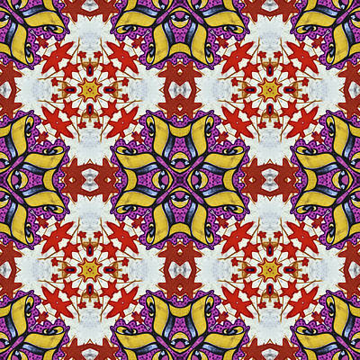 Graffito Kaleidoscope 40 Art Print