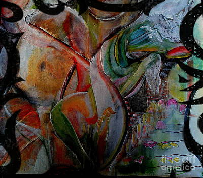 Love Making Painting - Graffity Of 14th Feb by Subrata Bose