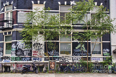 Photograph - Graffiti 1 - Amsterdam by Crystal Nederman