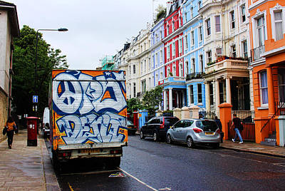 Grafitti Truck Art Print by Nicky Jameson