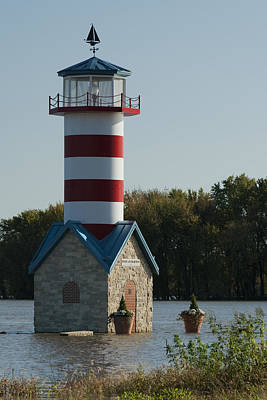 Photograph - Grafton Il Lighthouse Img 9448 by Greg Kluempers