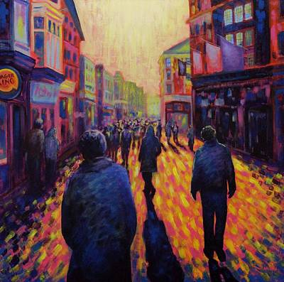Grafton Painting - Grafton Street Dublin by John  Nolan