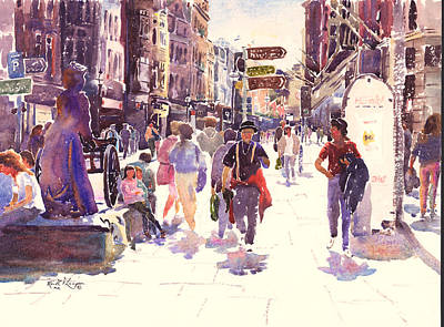 Grafton Painting - Grafton Street Dublin by Keith Thompson