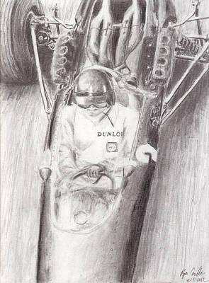 Formula One Drawing - Graham Hill by Ryan Casillas
