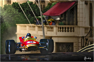 Graham's Monaco 1968 Art Print by Craig Purdie