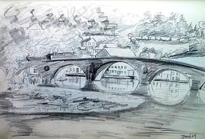 Graignamanagh Bridge River Barrow  Kilkenny Ireland  Art Print by Trudi Doyle
