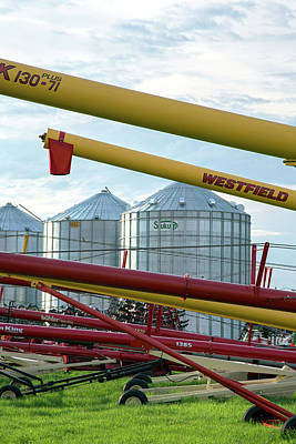 Grain Augers And Silos Art Print by Jim West