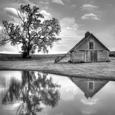 Photograph - Grain Barn - Lone Tree - Square by Nikolyn McDonald