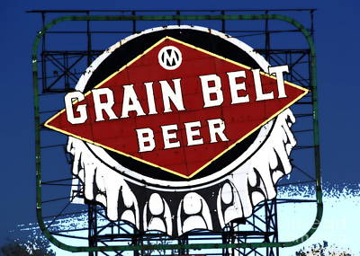 Photograph - Grain Belt Blue by A K Dayton