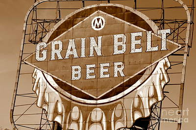 Photograph - Grain Belt Sepia by A K Dayton