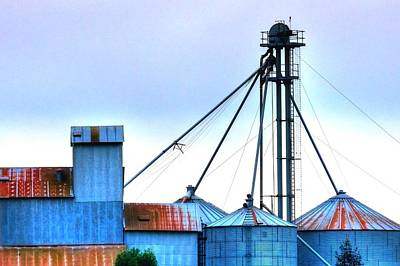 Jerry Sodorff Royalty-Free and Rights-Managed Images - Grain Elevator 20618 2 by Jerry Sodorff