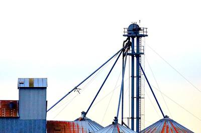 Jerry Sodorff Royalty-Free and Rights-Managed Images - Grain Elevator 20624 by Jerry Sodorff