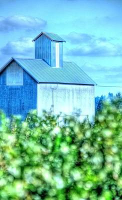 Jerry Sodorff Royalty-Free and Rights-Managed Images - Grain Elevator and Vineyard 17015 by Jerry Sodorff