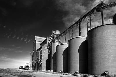 Grain Elevator Complex On Prairie Art Print by Donald  Erickson