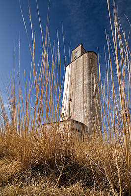 Grain Elevator Art Print by Peter Tellone