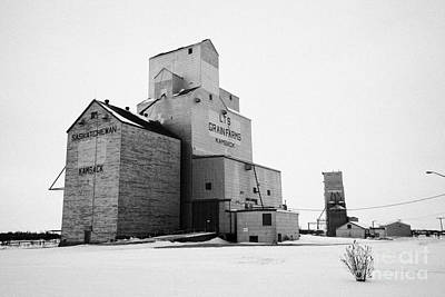 grain elevators Kamsack Saskatchewan Canada Art Print by Joe Fox