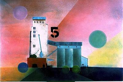 Painting - Grain Elevators by William Renzulli