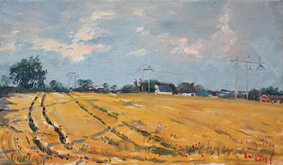 Countryside Painting - Grain Field by Ylli Haruni