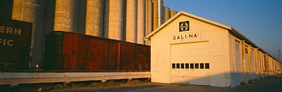Grain Silo Railroad Station, Salina Print by Panoramic Images