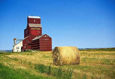 Grain Silo Saskatchewan Art Print by Buddy Mays