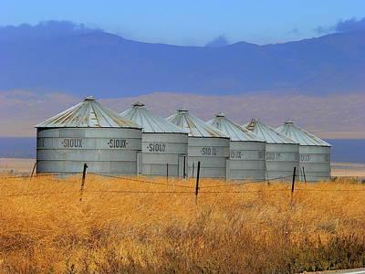 Photograph - Grain Silos by Jeff Lowe